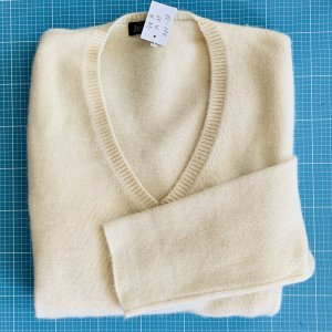 Joe Taft Cashmere Jumper natural white cashmere