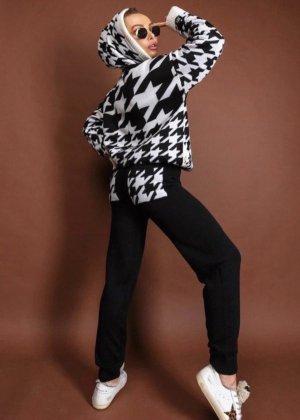 Trouser Suit white-black