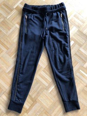 Jogger H&M Zipperdetails schwarz 36