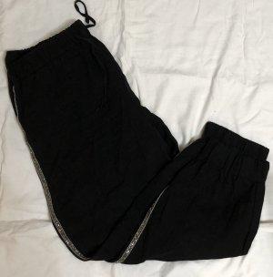 Zara Pantalon large noir-argenté