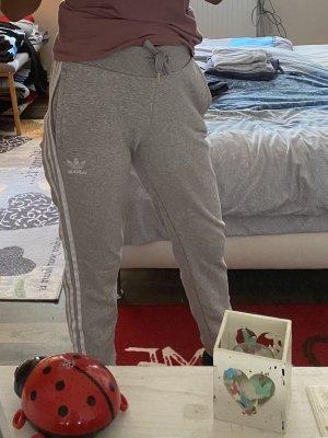 Adidas Pantalon de sport gris clair-blanc