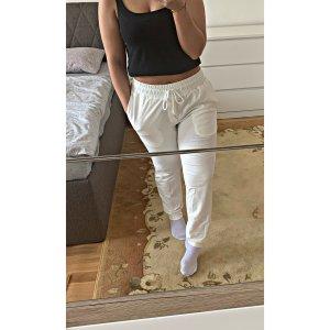 Spodnie z wysokim stanem biały