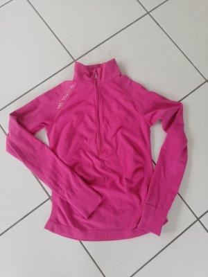 Jogging Jacke Fitness Oberteil S rosa Reflektoren Laufen 36