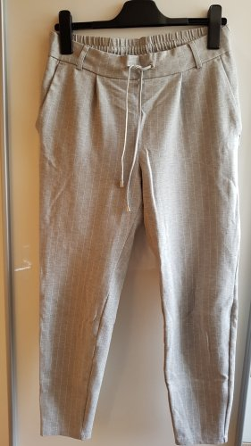 Amisu Low-Rise Trousers light grey-white viscose