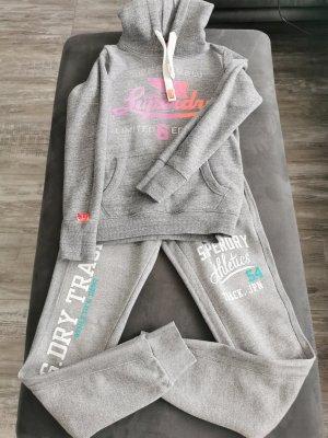SUPER DRY Suit Trouser light grey