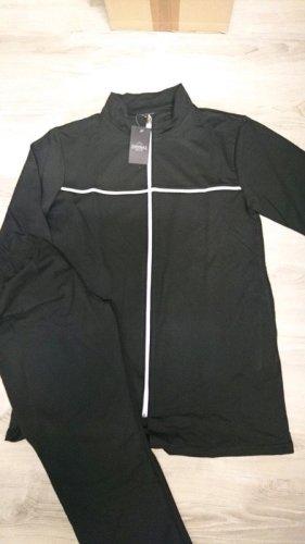 Completo sportivo nero-bianco Cotone