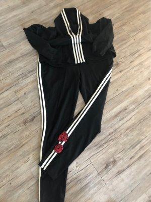 Betty & Co Spodnie sportowe czarny-biały