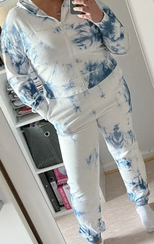 Top à capuche bleu azur-blanc