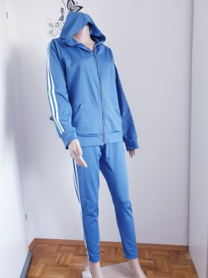 Ohne Leisure suit steel blue polyester