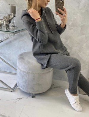 keine Marke Tailleur-pantalon gris