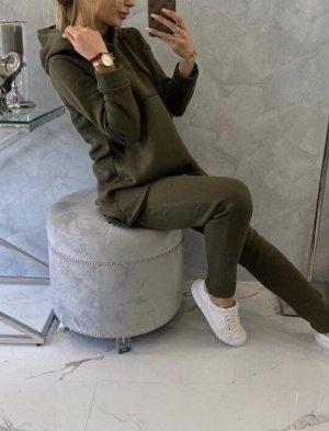 keine Marke Pantalone da abito verde bosco