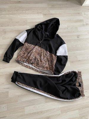 Jogginganzug leopard Muster schwarz weiß gr 36/38