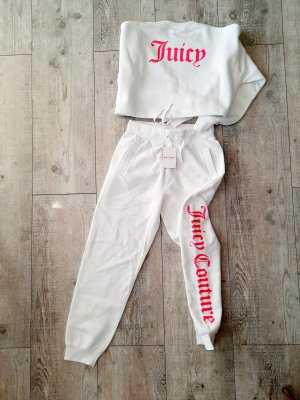 Juicy Couture Twin Set tipo suéter blanco-rosa