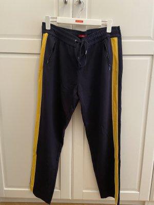 s.Oliver Pantalon de jogging bleu foncé-jaune