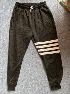 SheIn Leisure suit black-white mixture fibre