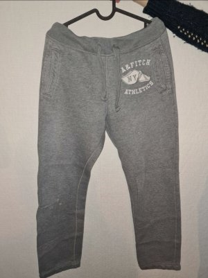 Abercrombie & Fitch Sweat Pants dark grey cotton