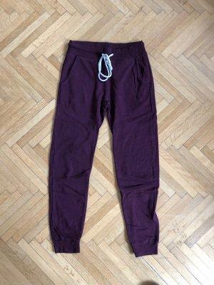 H&M Pantalon «Baggy» rouge mûre