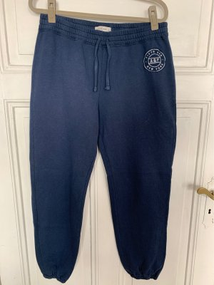 Abercrombie & Fitch Sweat Pants steel blue-white