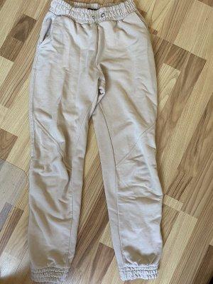 Bershka Pantalón deportivo crema