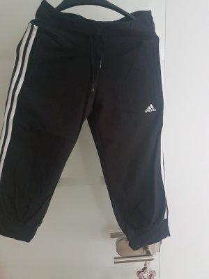 Pantalón pirata negro tejido mezclado