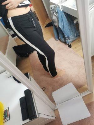 Bershka Sweat Pants white-black