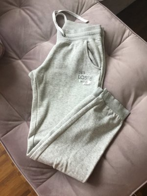 UpFashion Pantalone da ginnastica grigio chiaro