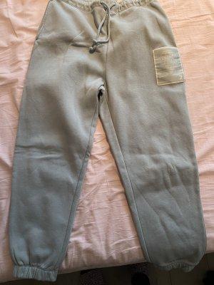 H&M Pantalone fitness blu pallido