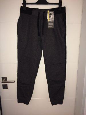 Crane Pantalón deportivo gris oscuro-negro Algodón