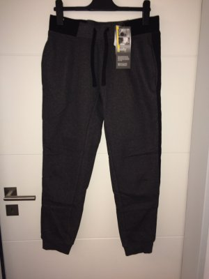 Crane Pantalone fitness grigio scuro-nero Cotone