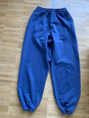 Jogginghose Gr S 36 sixthreeseven high waist blau