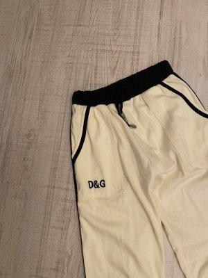 Pantalon boyfriend crème coton