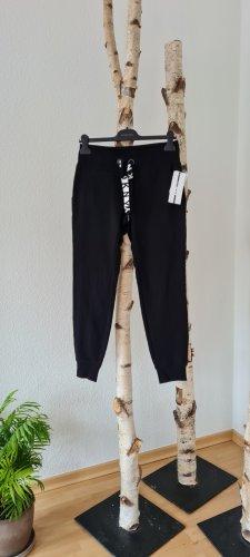DKNY Pantalón para montar blanco-negro