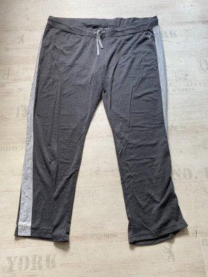 Pantalone fitness grigio Tessuto misto