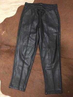 Guess Pantalón de cuero negro