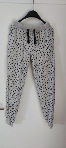 Pantalón de lana negro-beige