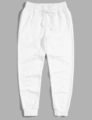 SheIn Pantalone da ginnastica bianco