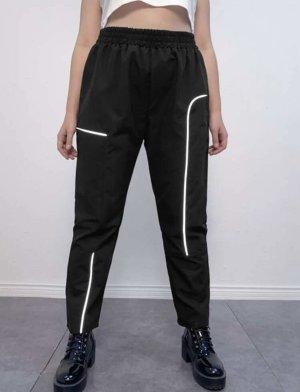 100% Fashion Spodnie sportowe czarny
