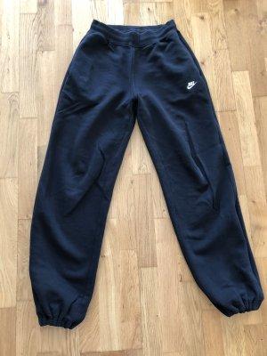 Nike Pantalón abombado negro-azul oscuro