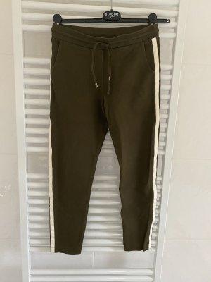 Plein Sud Jeanius Spodnie khaki zielono-szary
