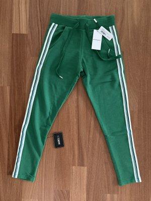 ROQA Pantalon de sport vert-blanc coton