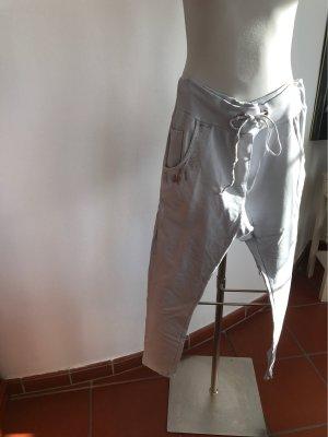 0039 Italy Boyfriend Trousers light grey