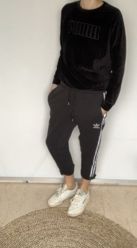 Adidas Originals pantalón de cintura baja negro-blanco