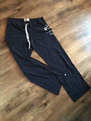 Hollister Sweat Pants dark blue-white