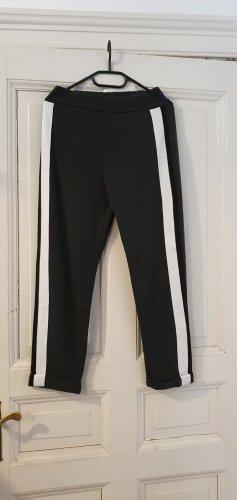 Zara Spodnie sportowe biały-czarny