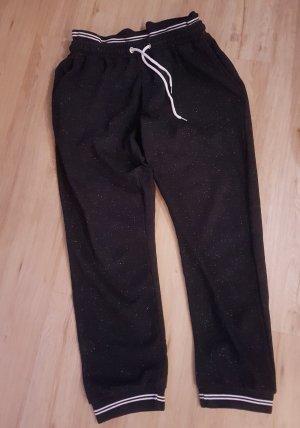 Angel of Style Pantalon de jogging noir-blanc cassé