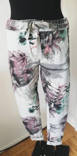 Pantalón elástico gris-malva