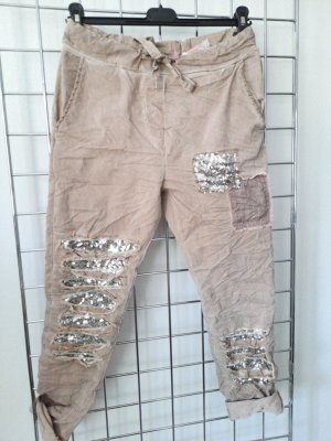 Made in Italy Pantalon strech vieux rose