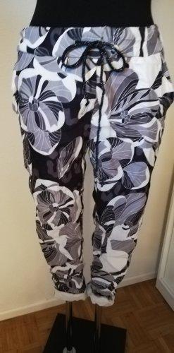 Made in Italy Stretch broek wit-zwart