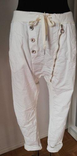 Made in Italy Pantalone boyfriend bianco