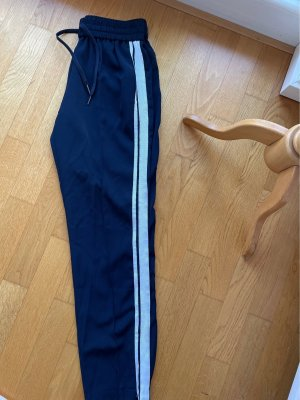Hallhuber Pantalón anchos azul oscuro-blanco